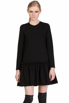 Sukienka czarna falbana IV PROJEKTANT Yuliya Babich