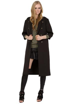 Płaszcz czarny z guzikami PROJEKTANT Yuliya Babich