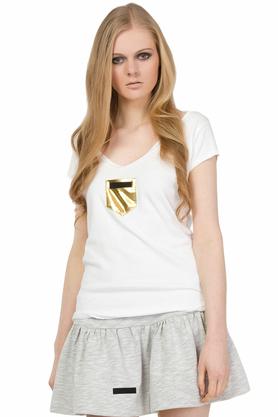 T-shirt ze złotą kieszonką PROJEKTANT Yuliya Babich