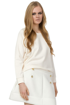Bluza krótka ecru PROJEKTANT Yuliya Babich