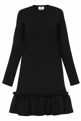 Sukienka czarna falbana I PROJEKTANT Yuliya Babich