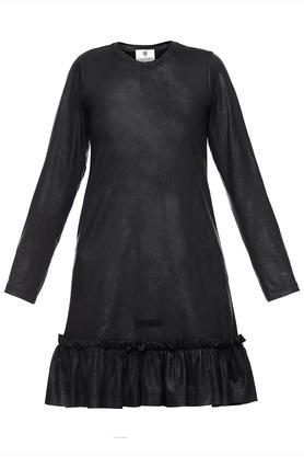 Sukienka czarna falbana II PROJEKTANT Yuliya Babich