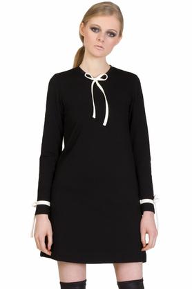 Sukienka czarna kokardka PROJEKTANT Yuliya Babich