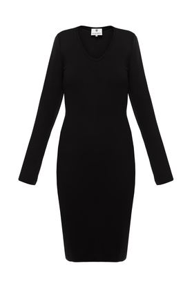 Sukienka czarna midi PROJEKTANT Yuliya Babich