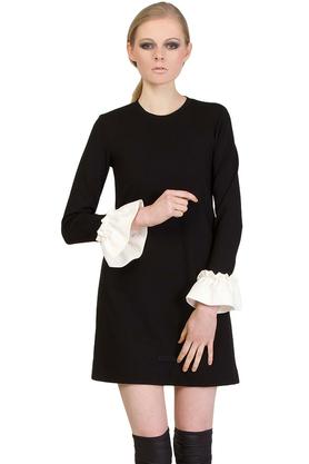 Sukienka falbany czarna PROJEKTANT Yuliya Babich