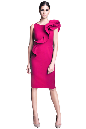 Sukienka ołówkowa różowa PROJEKTANT Rina Cossack