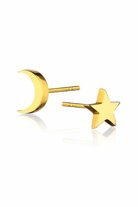 Kolczyki Księżyc i Gwiazdka złote PROJEKTANT La Tienne