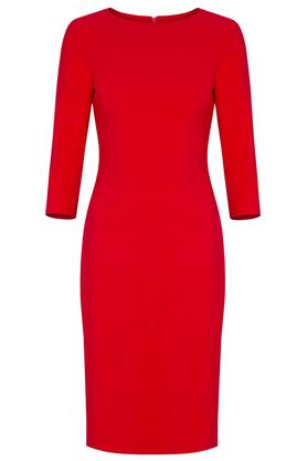 Sukienka czerwona midi PROJEKTANT Kasia Miciak