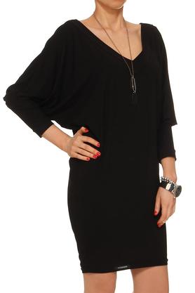Tuniko-sukienka z dekoltem czarna PROJEKTANT Yuliya Babich