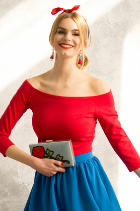 Bluzka hiszpanka czerwona PROJEKTANT Kasia Miciak