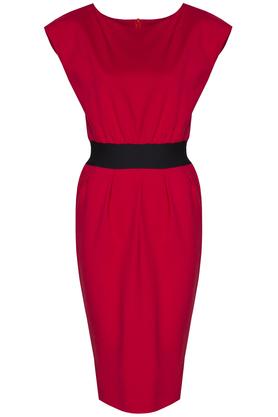 Sukienka Mono Voyage czerwona PROJEKTANT Kasia Miciak