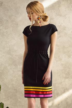 Sukienka w pasy Warm PROJEKTANT Kasia Miciak