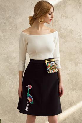 Spódnica z żurawiem PROJEKTANT Kasia Miciak