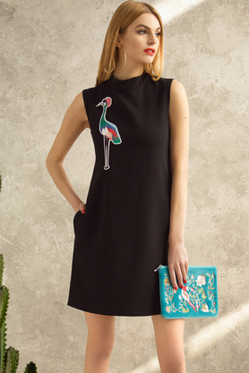 Sukienka z żurawiem PROJEKTANT Kasia Miciak