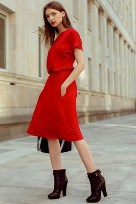 Sukienka uniwersalna z kieszeniami czerwona PROJEKTANT Kasia Miciak