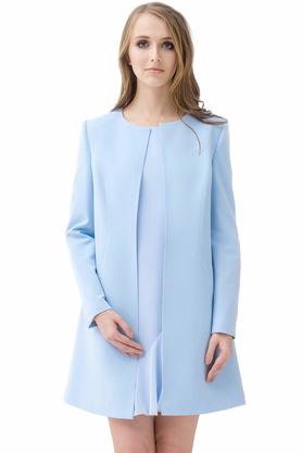 Płaszcz jasnoniebieski PROJEKTANT Rina Cossack