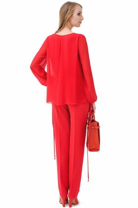 Spodnie czerwone PROJEKTANT Rina Cossack