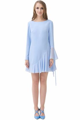 Sukienka trapezowa jasnoniebieska PROJEKTANT Rina Cossack