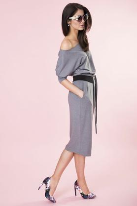 Sukienka kimono szara PROJEKTANT Kasia Miciak