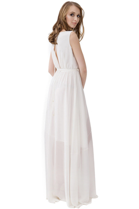 Sukienka długa na ramiączkach PROJEKTANT Rina Cossack