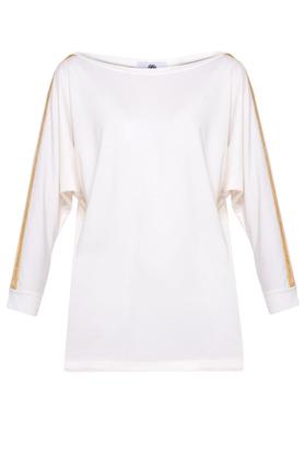 Bluzka biała złoty pasek PROJEKTANT Yuliya Babich