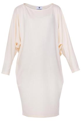 Sukienka luźna ecru PROJEKTANT Yuliya Babich