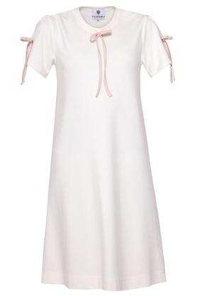 Sukienka z kokardami ecru PROJEKTANT Yuliya Babich