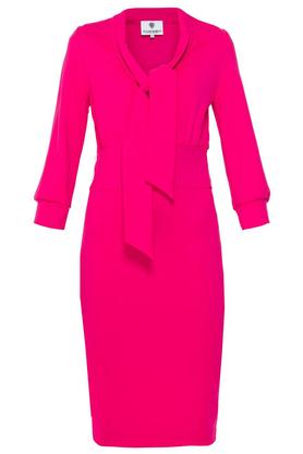 Sukienka z krawatką różowa PROJEKTANT Yuliya Babich