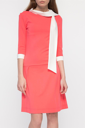 Sukienka z krawatem koralowa PROJEKTANT Yuliya Babich