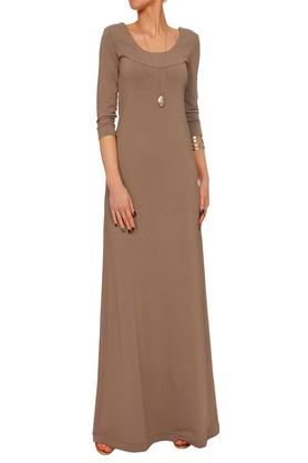 Sukienka długa beżowa PROJEKTANT Yuliya Babich