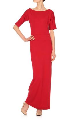 Sukienka długa czerwona PROJEKTANT Yuliya Babich
