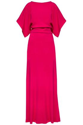 Sukienka długa różowa PROJEKTANT Yuliya Babich