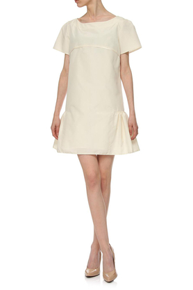 Sukienka jedwabna ecru PROJEKTANT Yuliya Babich