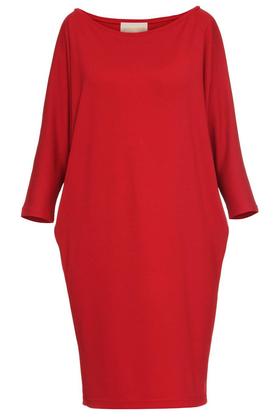 Sukienka luźna czerwona PROJEKTANT Yuliya Babich