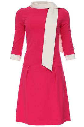 Sukienka z krawatem różowa PROJEKTANT Yuliya Babich