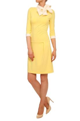 Sukienka z krawatem żółta PROJEKTANT Yuliya Babich