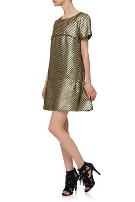 Sukienka żakardowa złota PROJEKTANT Yuliya Babich