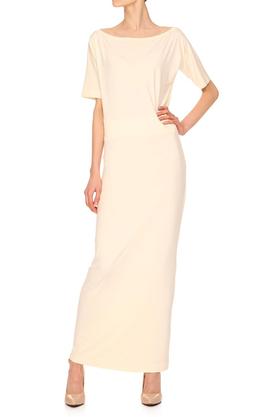 Sukienka długa ecru PROJEKTANT Yuliya Babich