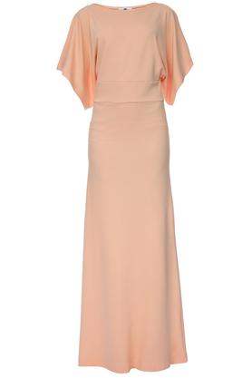 Sukienka długa łososiowa PROJEKTANT Yuliya Babich