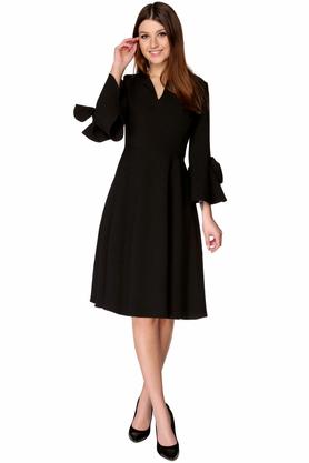 Sukienka rozkloszowana midi czarna PROJEKTANT VerityHunt