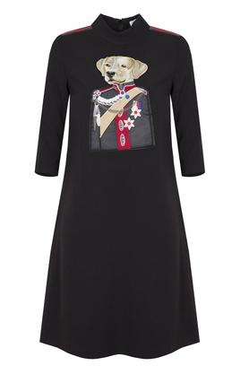 Sukienka z psem PROJEKTANT Kasia Miciak