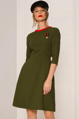 Sukienka Khaki z medalem PROJEKTANT Kasia Miciak