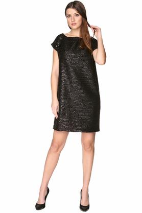 Sukienka połyskująca czarna PROJEKTANT VerityHunt