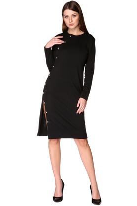 Sukienka z rozcięciem czarna PROJEKTANT VerityHunt
