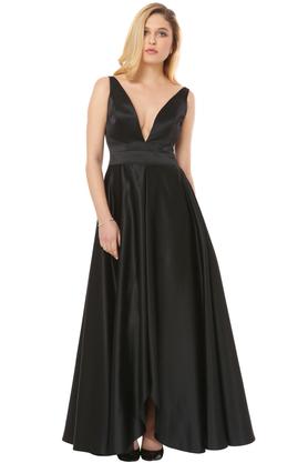 Sukienka Małgorzata II z głębokim dekoltem czarna PROJEKTANT Inspiracja Butik