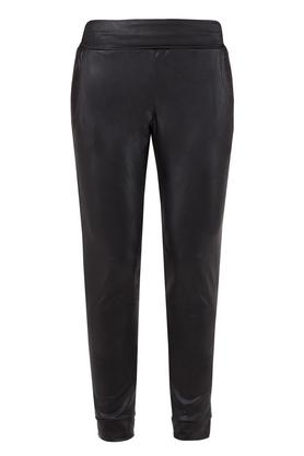 Spodnie połyskujące czarne PROJEKTANT Yuliya Babich
