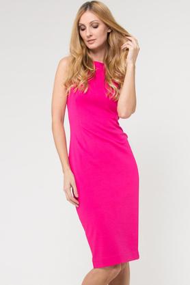 Sukienka dopasowana różowa PROJEKTANT Yuliya Babich