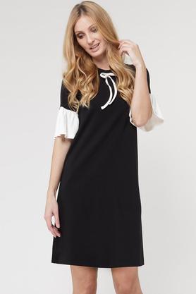 Sukienka z kokardką czarna PROJEKTANT Yuliya Babich