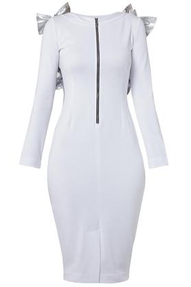 Sukienka ze skrzydełkami biała PROJEKTANT Yuliya Babich