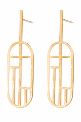 Kolczyki Flappers 10 złote PROJEKTANT FROU-FROU